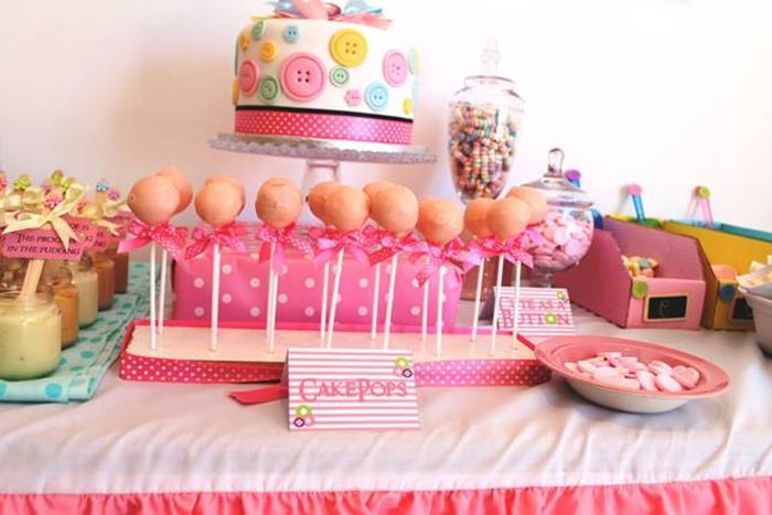 Kara S Party Ideas Pastel Cute As A Button Party Planning