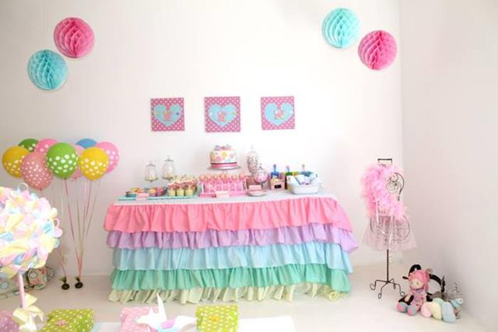 Cute As A Button 1st Birthday Party With So Many Darling Ideas Via Karas