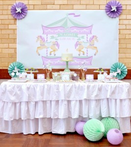 Carousel 1st Birthday Party with Cute Ideas via Kara's Party Ideas | Kara'sPartyIdeas.com #Carousels #Pinwheels #Streamers #PartyIdeas #Supplies (12)