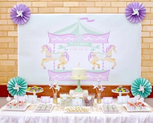 Carousel 1st Birthday Party with Cute Ideas via Kara's Party Ideas | Kara'sPartyIdeas.com #Carousels #Pinwheels #Streamers #PartyIdeas #Supplies (11)