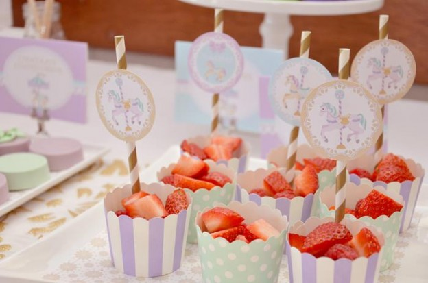 Carousel 1st Birthday Party with Cute Ideas via Kara's Party Ideas | Kara'sPartyIdeas.com #Carousels #Pinwheels #Streamers #PartyIdeas #Supplies (9)