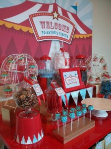 Circus Themed Christening Full of Cute Ideas via Kara's Party Ideas | KarasPartyIdeas.com #Circus #Party #Ideas #Supplies (12)