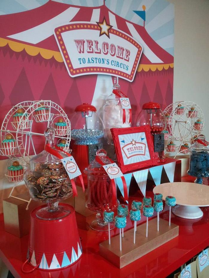 Circus Themed Christening Full Of Cute Ideas Via Kara S Party Karaspartyideas