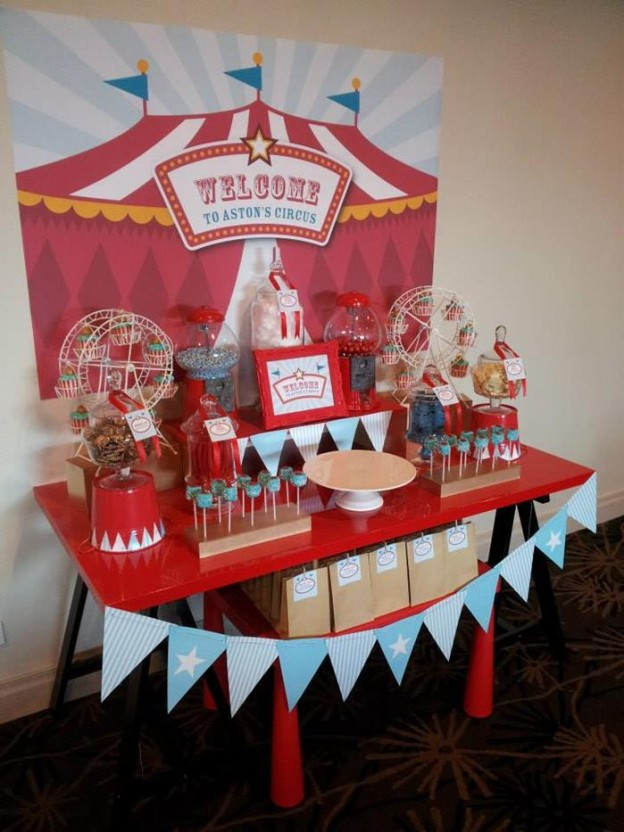 Circus Themed Christening Full of Cute Ideas via Kara's Party Ideas | KarasPartyIdeas.com #Circus #Party #Ideas #Supplies (10)