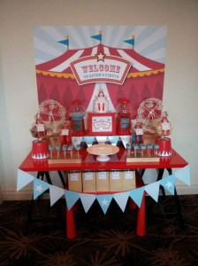 Circus Themed Christening Full of Cute Ideas via Kara's Party Ideas | KarasPartyIdeas.com #Circus #Party #Ideas #Supplies (9)