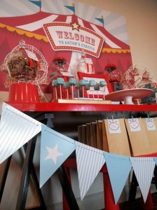 Circus Themed Christening Full of Cute Ideas via Kara's Party Ideas | KarasPartyIdeas.com #Circus #Party #Ideas #Supplies (7)