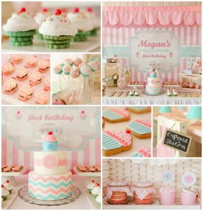 Cupcake Shoppe 1st Birthday Party with Lots of Really Cute Ideas via Kara's Party Ideas KarasPartyIdeas.com #CupcakeStand #Party #Ideas #Supplies (1)