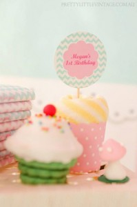 Cupcake Shoppe 1st Birthday Party with Lots of Really Cute Ideas via Kara's Party Ideas KarasPartyIdeas.com #CupcakeStand #Party #Ideas #Supplies (11)