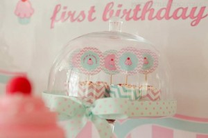 Cupcake Shoppe 1st Birthday Party with Lots of Really Cute Ideas via Kara's Party Ideas KarasPartyIdeas.com #CupcakeStand #Party #Ideas #Supplies (6)