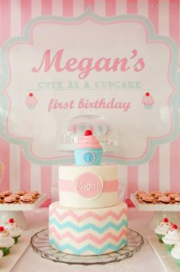 Cupcake Shoppe 1st Birthday Party with Lots of Really Cute Ideas via Kara's Party Ideas KarasPartyIdeas.com #CupcakeStand #Party #Ideas #Supplies (5)