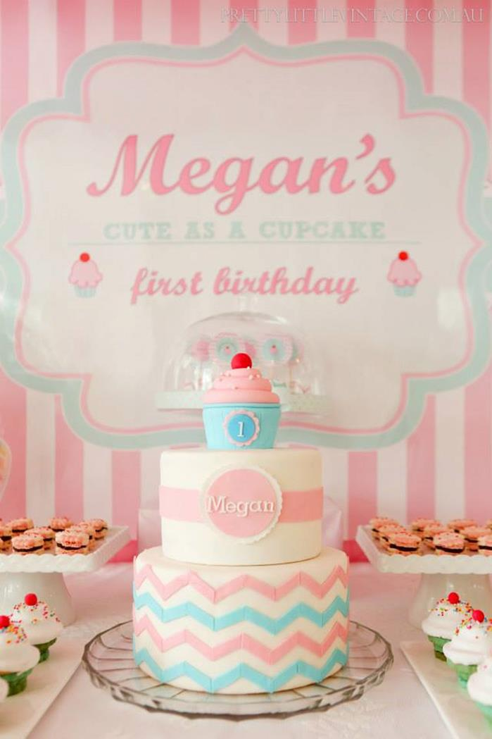 Kara S Party Ideas 187 Cupcake Shoppe 1st Birthday Party