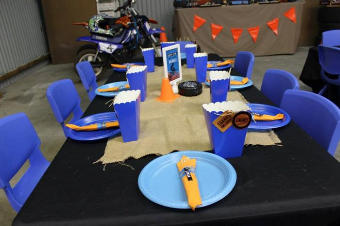 Kara S Party Ideas Dirt Bike Themed Birthday Party With