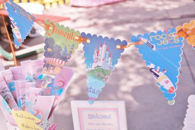Vintage Disneyland Party with Really Cute Ideas via Kara's Party Ideas | KarasPartyIdeas.com #Disneyland #Disneyworld #MickeyMouse #Party #Ideas #Supplies (75)