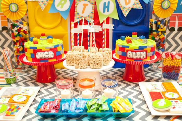 Kara's Party Ideas Twins Lego Party Planning Ideas Supplies Idea ...