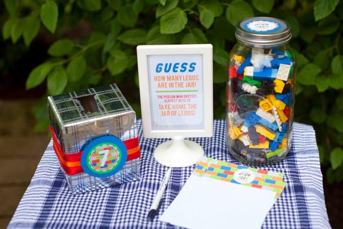Karas Party Ideas Twins Lego Themed Birthday Party with Lots of