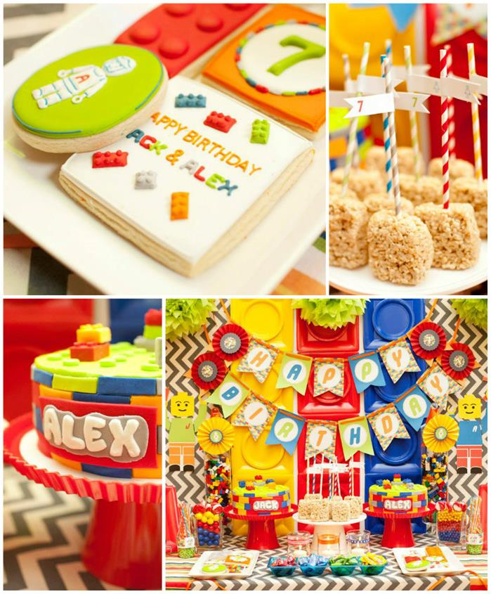 Kara's Party Ideas Twins' Lego Themed Birthday Party With