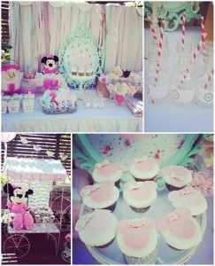 Shabby Chic Minnie Mouse Party with Lots of REALLY CUTE Ideas via Kara's Party Ideas | Kara'sPartyIdeas.com #Vintage #Girl #MinnieMouse #Party #Ideas #Supplies (1)