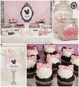 Minnie Mouse Birthday Party with So Many REALLY CUTE IDEAS via Kara's Party Ideas | Kara'sPartyIdeas.com #MickeyMouse #MinnieMouse #Party #Ideas #Supplies (1)