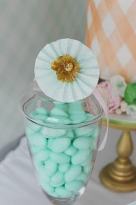 Mint, Pink, and Gold Tea Party with So Many Really Cute Ideas via Kara's Party Ideas | KarasPartyIdeas #BridalShower #Party #Ideas #Supplies (11)