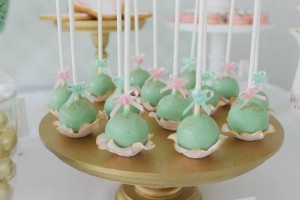 Mint, Pink, and Gold Tea Party with So Many Really Cute Ideas via Kara's Party Ideas | KarasPartyIdeas #BridalShower #Party #Ideas #Supplies (9)