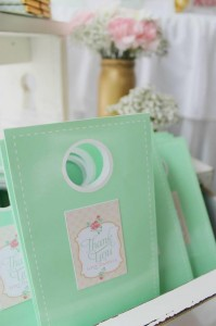 Mint, Pink, and Gold Tea Party with So Many Really Cute Ideas via Kara's Party Ideas | KarasPartyIdeas #BridalShower #Party #Ideas #Supplies (6)