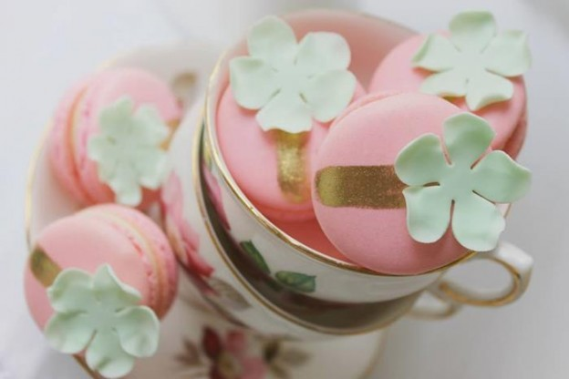 Mint, Pink, and Gold Tea Party with So Many Really Cute Ideas via Kara's Party Ideas | KarasPartyIdeas #BridalShower #Party #Ideas #Supplies (5)