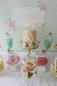 Mint, Pink, and Gold Tea Party with So Many Really Cute Ideas via Kara's Party Ideas | KarasPartyIdeas #BridalShower #Party #Ideas #Supplies (4)
