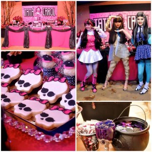 Monster High Themed Party with FULL of Really AWESOME Ideas via Kara's Party Ideas | KarasPartyIdeas.com #TweenParty #Halloween #Party #Ideas #Supplies (1)