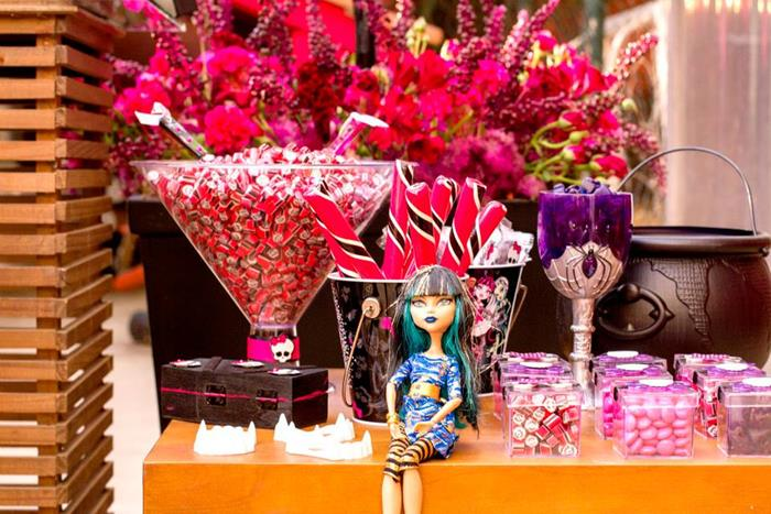 Kara S Party Ideas Monster High Themed Party With So Many