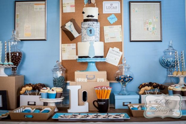 First Birthday Office Party with So Many Adorable Ideas via Kara's Party Ideas | KarasPartyIdeas.com #LittleMan #Mustache #Party #Ideas #Supplies (16)