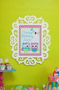 Look Whoo's One Owl Party with So Many Darling Ideas via Kara's Party Ideas KarasPartyIdeas.com #HootOwl #Party #Ideas #Supplies (4)