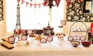 Parisian Themed 1st Birthday Party with Lots of Really Cute Ideas via Kara's Party Ideas | KarasPartyIdeas.com #Paris #Eiffel Tower #French #Party #Ideas #Supplies (2)