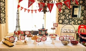 Parisian Themed 1st Birthday Party with Lots of Really Cute Ideas via Kara's Party Ideas | KarasPartyIdeas.com #Paris #Eiffel Tower #French #Party #Ideas #Supplies (12)
