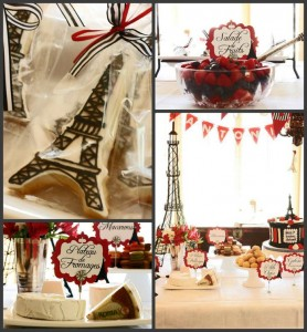 Parisian Themed 1st Birthday Party with Lots of Really Cute Ideas via Kara's Party Ideas | KarasPartyIdeas.com #Paris #Eiffel Tower #French #Party #Ideas #Supplies (1)