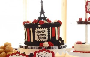 Parisian Themed 1st Birthday Party with Lots of Really Cute Ideas via Kara's Party Ideas | KarasPartyIdeas.com #Paris #Eiffel Tower #French #Party #Ideas #Supplies (5)