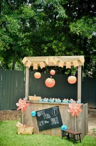 Peach Stand 2nd Birthday Party with DARLING IDEAS via Kara's Party Ideas | Kara'sPartyIdeas.com #Peaches #Harvesting #Summer #PartyIdeas #Supplies (1)