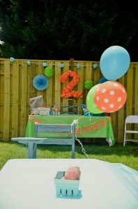 Peach Stand 2nd Birthday Party with DARLING IDEAS via Kara's Party Ideas | Kara'sPartyIdeas.com #Peaches #Harvesting #Summer #PartyIdeas #Supplies (17)