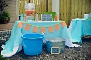 Peach Stand 2nd Birthday Party with DARLING IDEAS via Kara's Party Ideas | Kara'sPartyIdeas.com #Peaches #Harvesting #Summer #PartyIdeas #Supplies (15)
