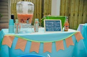 Peach Stand 2nd Birthday Party with DARLING IDEAS via Kara's Party Ideas | Kara'sPartyIdeas.com #Peaches #Harvesting #Summer #PartyIdeas #Supplies (14)