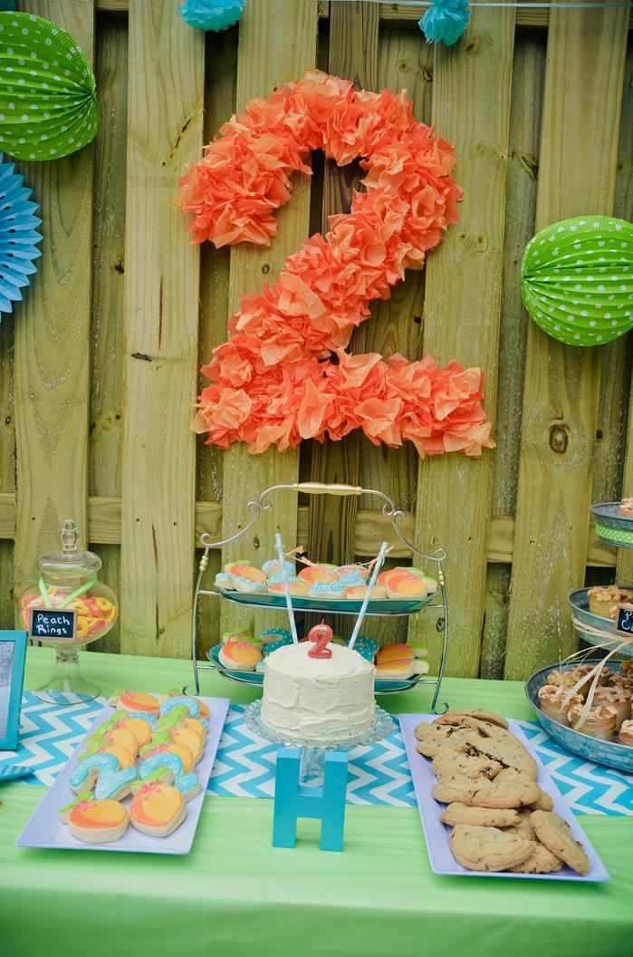 Kara 39 S Party Ideas Peach Stand 2nd Birthday Party With So Many Cute Ideas