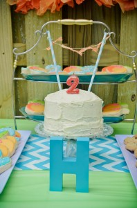 Peach Stand 2nd Birthday Party with DARLING IDEAS via Kara's Party Ideas | Kara'sPartyIdeas.com #Peaches #Harvesting #Summer #PartyIdeas #Supplies (9)