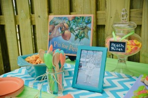 Peach Stand 2nd Birthday Party with DARLING IDEAS via Kara's Party Ideas | Kara'sPartyIdeas.com #Peaches #Harvesting #Summer #PartyIdeas #Supplies (5)