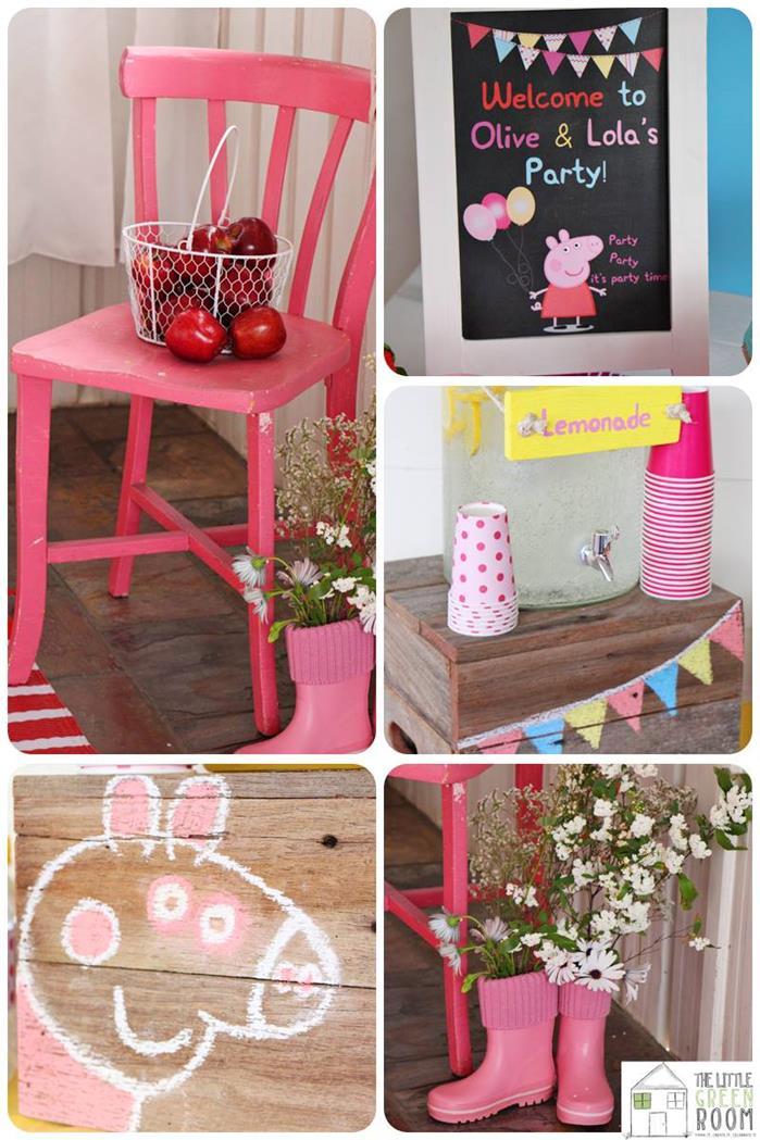 Kara S Party Ideas Peppa Pig Twins Birthday Party Planning Ideas