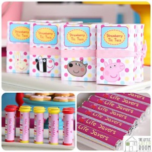 Peppa Pig Twins Party with LOTS of CUTE IDEAS via Kara's Party Ideas | KarasPartyIdeas.com #Pig #Party #Ideas #Supplies (15)