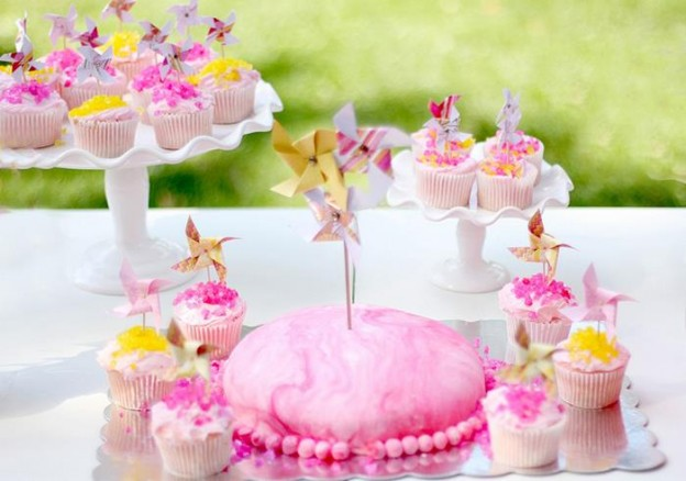 Pink Lemonade and Pinwheels 1st Birthday Party with REALLY CUTE Ideas via Kara's Party Ideas | KarasPartyIdeas.com #Girly #Party #Ideas #Supplies (4)
