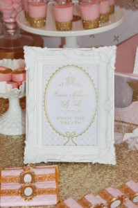 Pink and Gold Princess Party So Many Really Cute Ideas via Kara's Party Ideas KarasPartyIdeas.com #RoyalPrincess #Party #Ideas #Supplies (14)