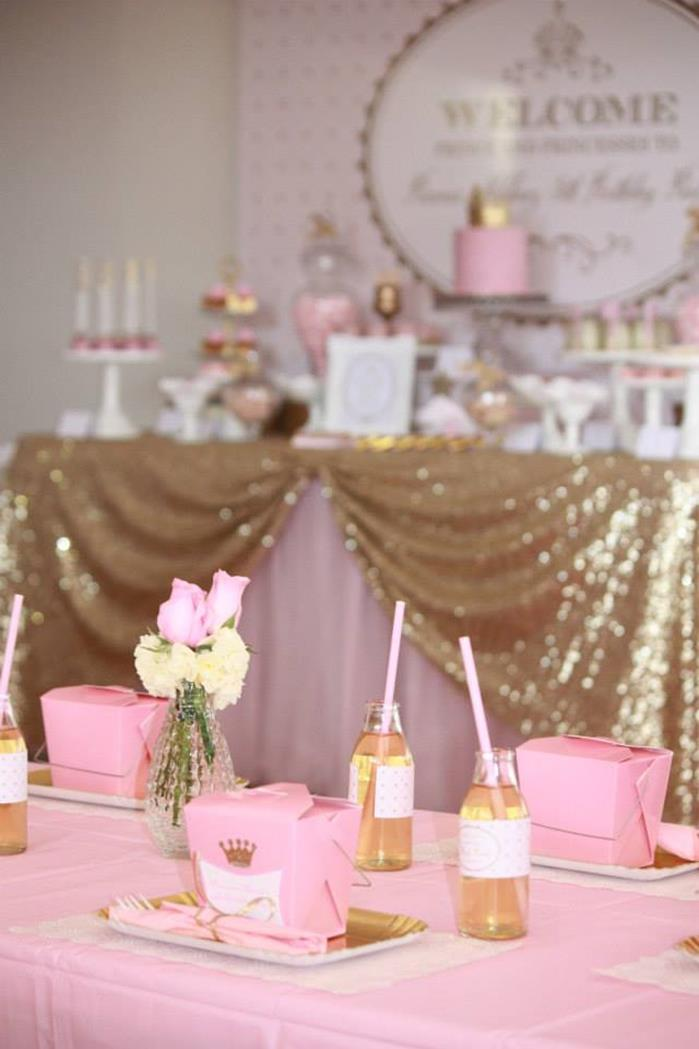Kara S Party Ideas 187 Pink And Gold Princess Party With