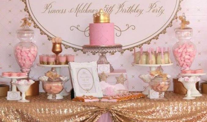 Kara S Party Ideas Pink Gold Royal Princess Party Planning