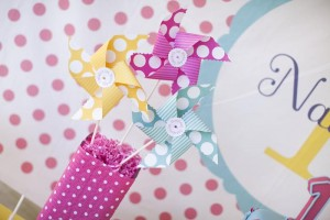 Pinwheels and Polka Dots 1st Birthday Party with Full of Adorable Ideas via Kara's Party Ideas | KarasPartyIdeas.com #LittleGirl #Party #Ideas #Supplies (10)