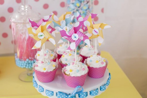 Pinwheels and Polka Dots 1st Birthday Party with Full of Adorable Ideas via Kara's Party Ideas | KarasPartyIdeas.com #LittleGirl #Party #Ideas #Supplies (15)